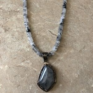 Jay King Rutilated Quartz Necklace Sterling Silver